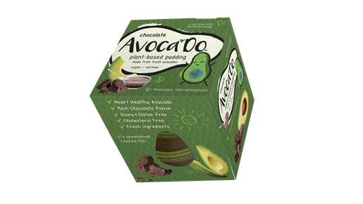 Chocolate Avoca'Do, Plant-Based Pudding, Rich and Dark Chocolate Flavor, 4-Pack, 2 oz  avocado chocolate pudding, avocado pudding, chocolate avocado pudding, keto avocado pudding, kids pudding, kids chocolate pudding, healthy snacks for kids, snacks for kids, healthy snacks, gluten free snack, dairy free snacks, gluten free snacks for kids, easy snacks for kids,